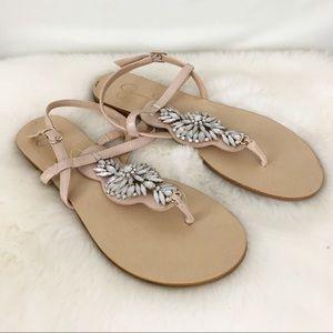 Jessica Simpson Jeweled Sandals Sz 9.5